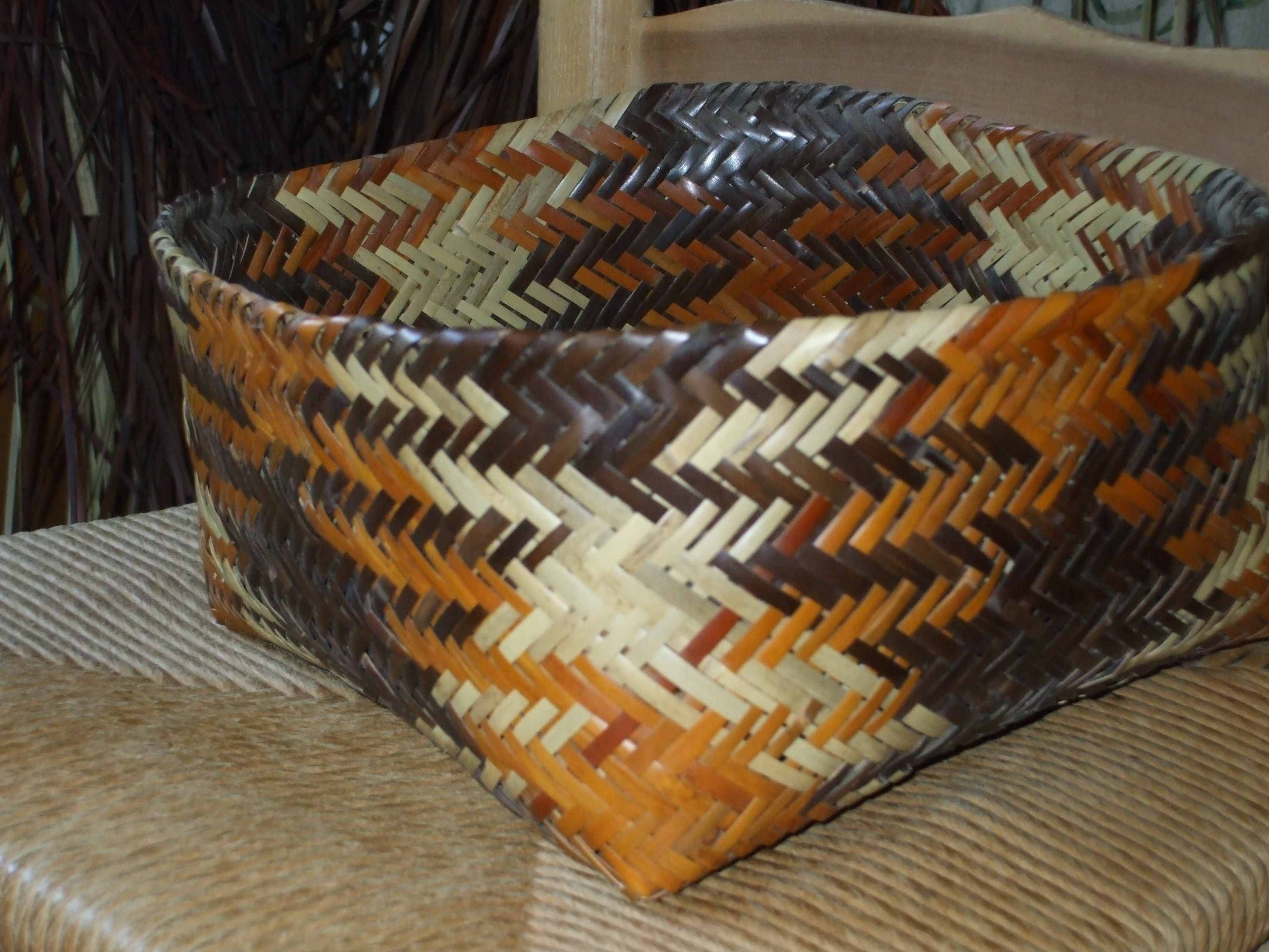 How To Weave A Cane Basket : Rivercane basket weaving